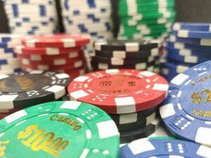spelmarker på ett bra casino